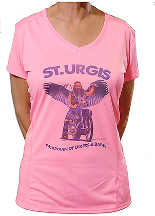 Lady's Hot Pink St Urgis T